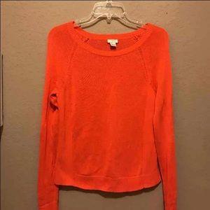 Orange J Crew Sweater
